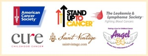 cancer research logos with border