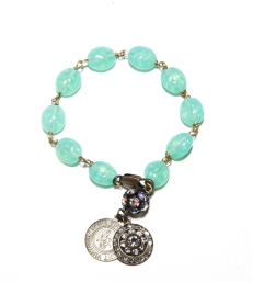 teal love links bracelet