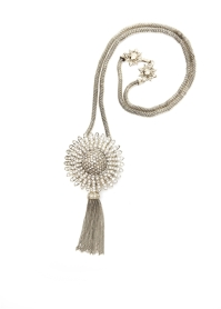 couture sunburst tassel necklace