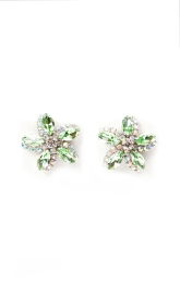 sv couture crystal peridot garden earrings