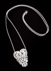 sv antique heart clip necklace2