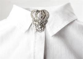 sv antique heart clip
