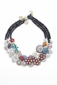 layered floral necklaces