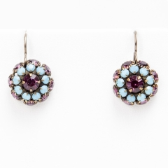 turquoise and amethyst river love drops