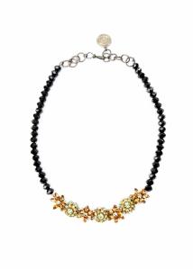 citrus floral bouquet necklace